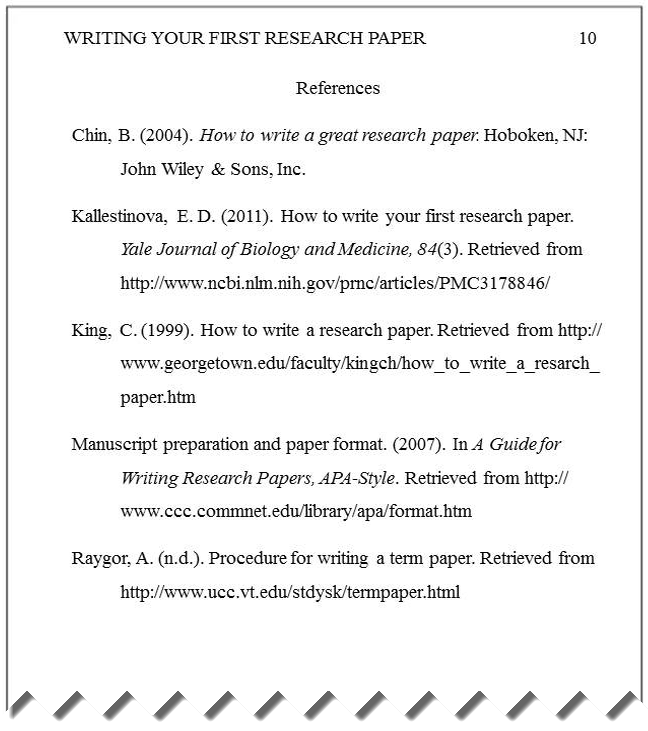 research paper references format Everything i know about apa references i learned sample references, page 2 writing a paper in apa style requires adherence to a research in childhood.
